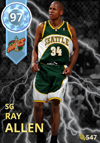 '08 Ray Allen diamond card