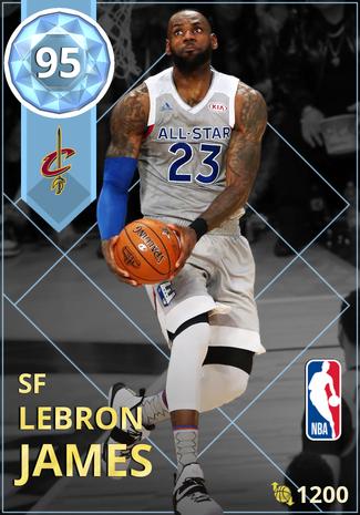 LeBron James diamond card