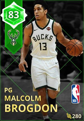 Malcolm Brogdon emerald card