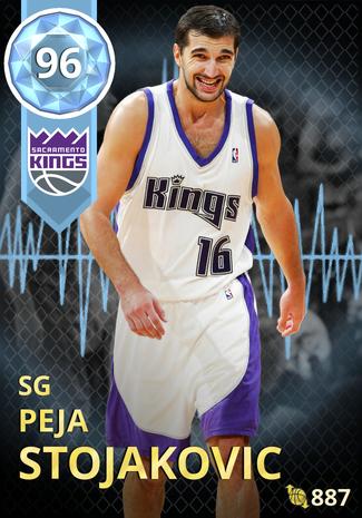 '06 Peja Stojakovic diamond card