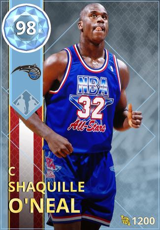 '99 Shaquille O'Neal diamond card
