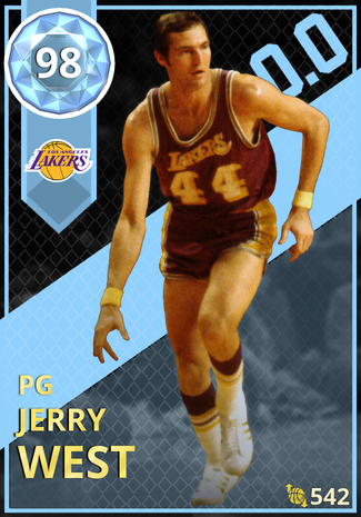 '75 Jerry West diamond card