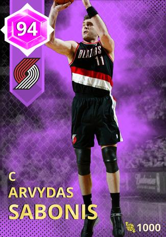 '04 Arvydas Sabonis amethyst card