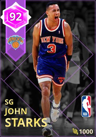 '94 John Starks amethyst card