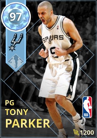'07 Tony Parker diamond card