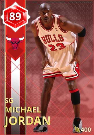 '02 Michael Jordan ruby card