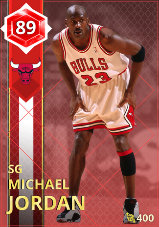 '02 Michael Jordan ruby card