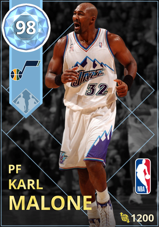 '02 Karl Malone diamond card
