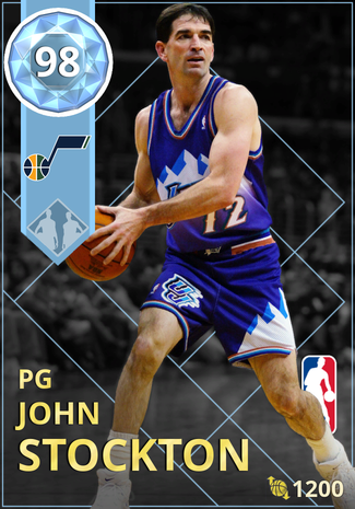 '02 John Stockton diamond card