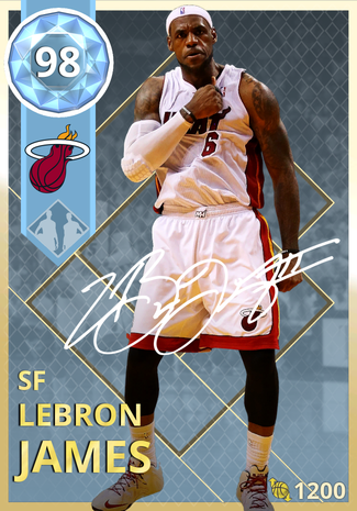 LeBron James diamond card