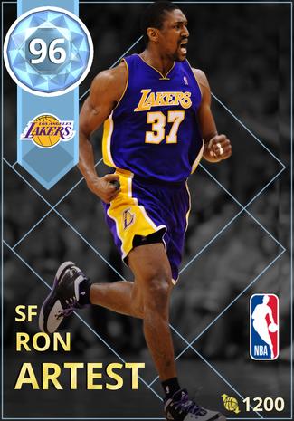 '08 Ron Artest diamond card