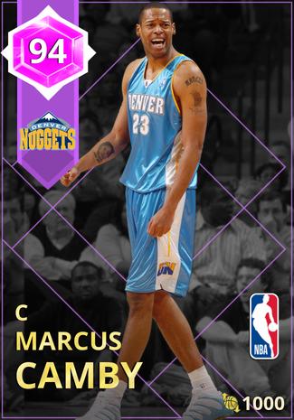 '01 Marcus Camby amethyst card