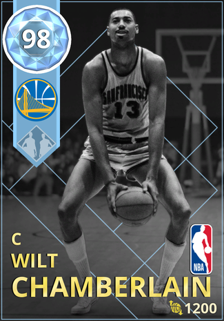'77 Wilt Chamberlain diamond card