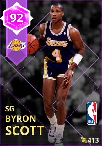 '90 Byron Scott amethyst card