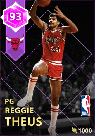 '89 Reggie Theus amethyst card