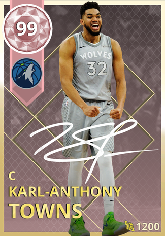 Karl-Anthony Towns pinkdiamond card
