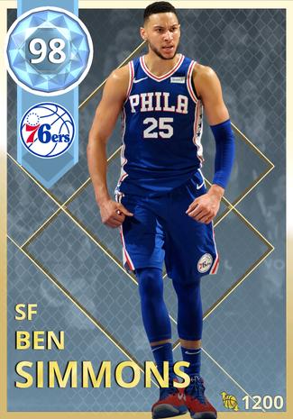 Ben Simmons diamond card