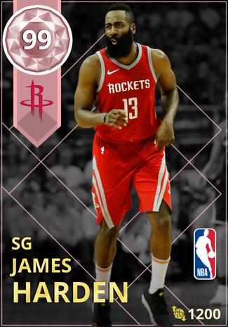 James Harden pinkdiamond card