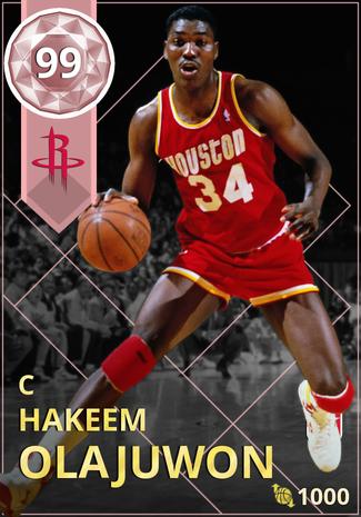 '98 Hakeem Olajuwon pinkdiamond card