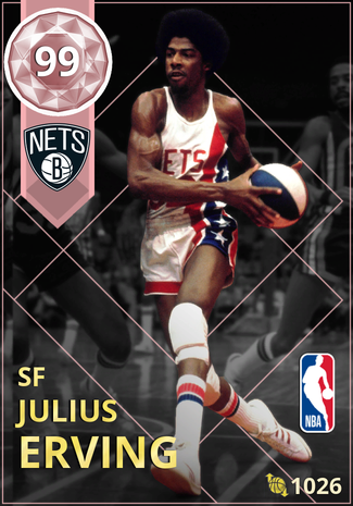 '76 Julius Erving pinkdiamond card