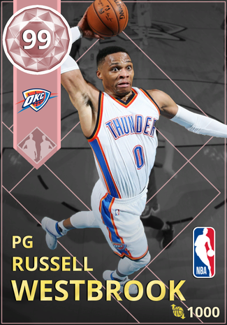 Russell Westbrook pinkdiamond card