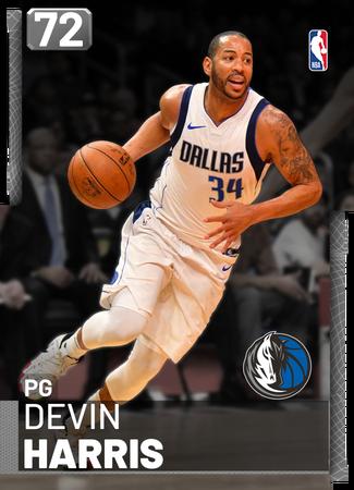 Devin Harris silver card