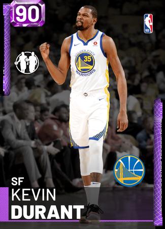 Kevin Durant amethyst card