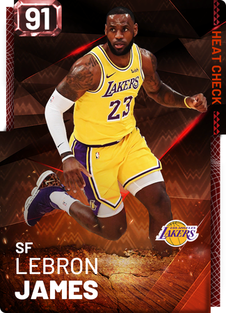 LeBron James fire card