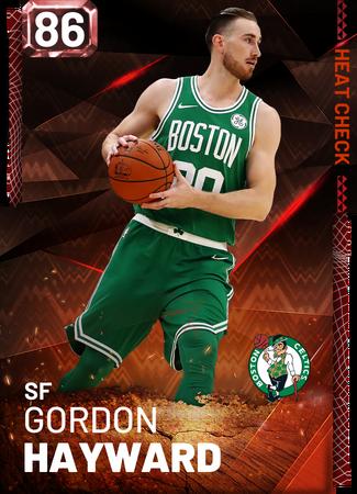 Gordon Hayward fire card