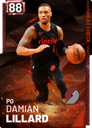 Damian Lillard fire card