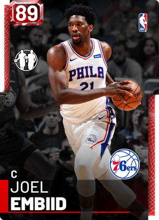 Joel Embiid ruby card