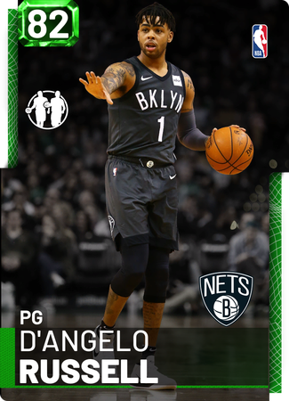 D'Angelo Russell emerald card