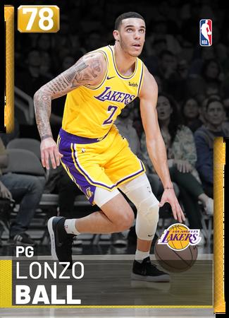 Lonzo Ball gold card