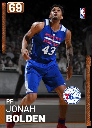 Jonah Bolden bronze card