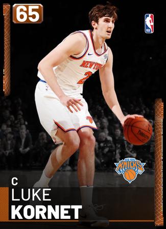 Luke Kornet bronze card