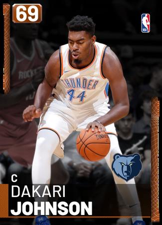 Dakari Johnson bronze card