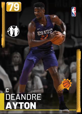 Deandre Ayton gold card