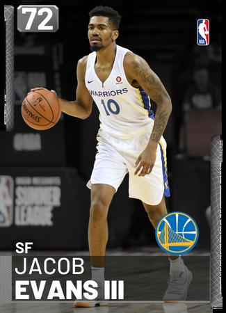 Jacob Evans III silver card