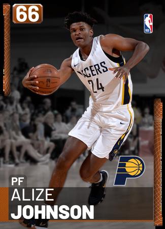 Alize Johnson bronze card