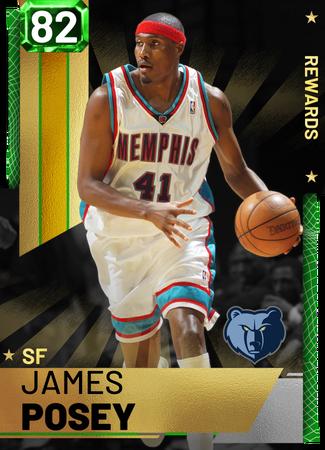 '02 James Posey emerald card