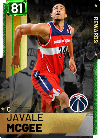 '13 Javale McGee emerald card
