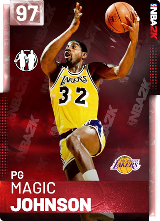 '91 Magic Johnson pinkdiamond card