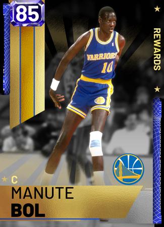 '87 Manute Bol sapphire card