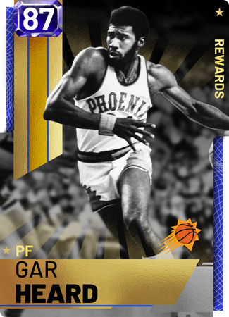 '76 Gar Heard sapphire card