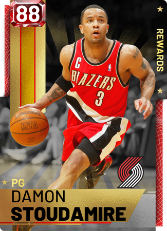 '08 Damon Stoudamire ruby card
