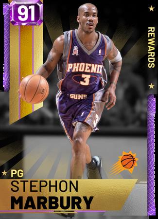 '03 Stephon Marbury amethyst card