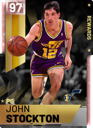 '98 John Stockton pinkdiamond card