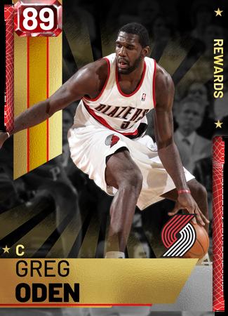 Greg Oden ruby card