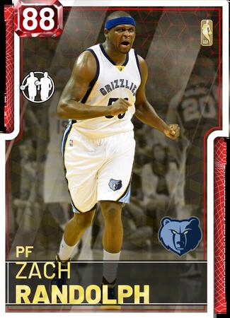 '18 Zach Randolph ruby card