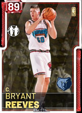 Bryant Reeves ruby card